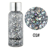 9 Colors Mermaid Sequin Glitter Body Gel Set For Face Eye Body Art Stage