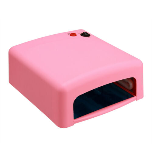 220V Pro 36W Pink UV Gel Nail Art Cure Curing Lamp Dryer