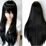 10 Colors Women Girl's Long Straight Hair Anime Cosplay Stage Party Full Wig 32""