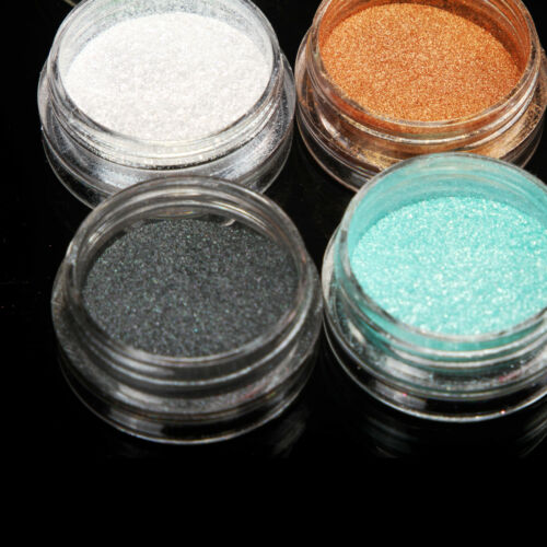15 Mix Color Loose Eyeshadow Pigment Powder Satin Glitter Eye Makeup Set #C