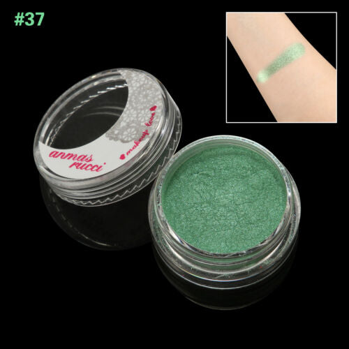 SeaGreen Shimmer Loose Makeup Powder Eye Pigment Mineral Eyeshadow#37