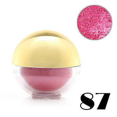 #87 HotPink Shimmer Pearl Loose Eyeshadow Cosmetic Powder