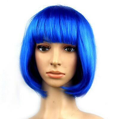 Sexy & Cute Short Bobo Cut Head Hair Wigs Full Wig for Anime Cosplay Party DIY