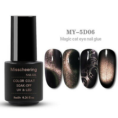 5D Cat Eye Magnetic Soak Off UV Gel Polish #6
