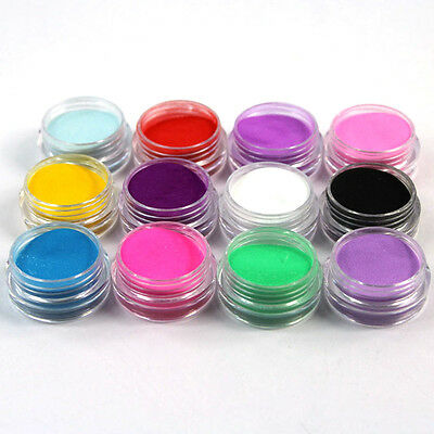 Mix Colors Acrylic Nail Art Dust Powder Set 12 PCS