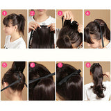 "24"" Wig Women Clip In Ribbon Ponytail Pony Tail Hair Wrap On Hair Beauty DIY"
