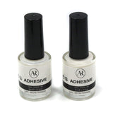 anmas rucci Professional 2PCS Galaxy Star Nail Art Glue for Foil Sticker Nail Transfer Tips Decorations Adhesive White 8ml