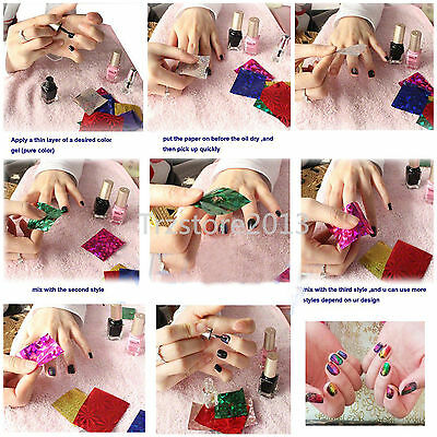 12 Color Nail Art Transfer Foil Sticker Get 2pcs 8ml Glue For Free