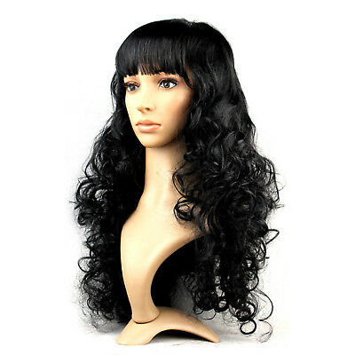 Women's Synthetic Hair Wig Long Wavy Curly Full Wigs Party Fancy Dress Cosplay