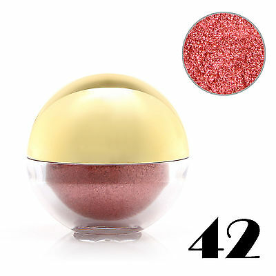#42 Tomato Shimmer Pearl Loose Eyeshadow Cosmetic Powder