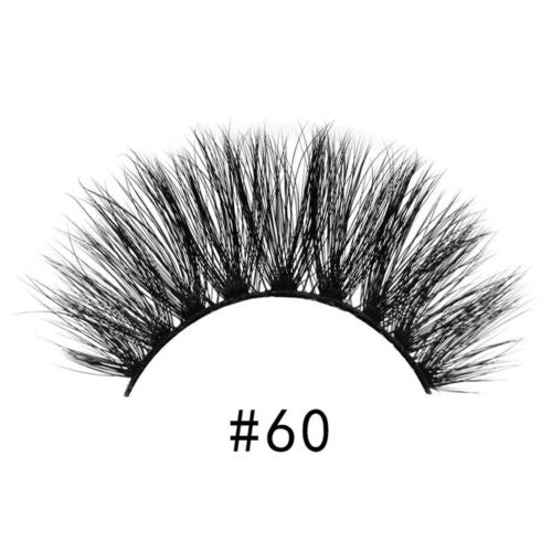 3D Real Thick Mink Hand-made Strip Lash 1 Pair / 2 Pairs