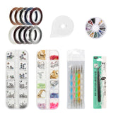 Nail Art Decoration Kits DIY Glitter Nail Rhinestones /Brush/Nail Foils Sticker B#Kits