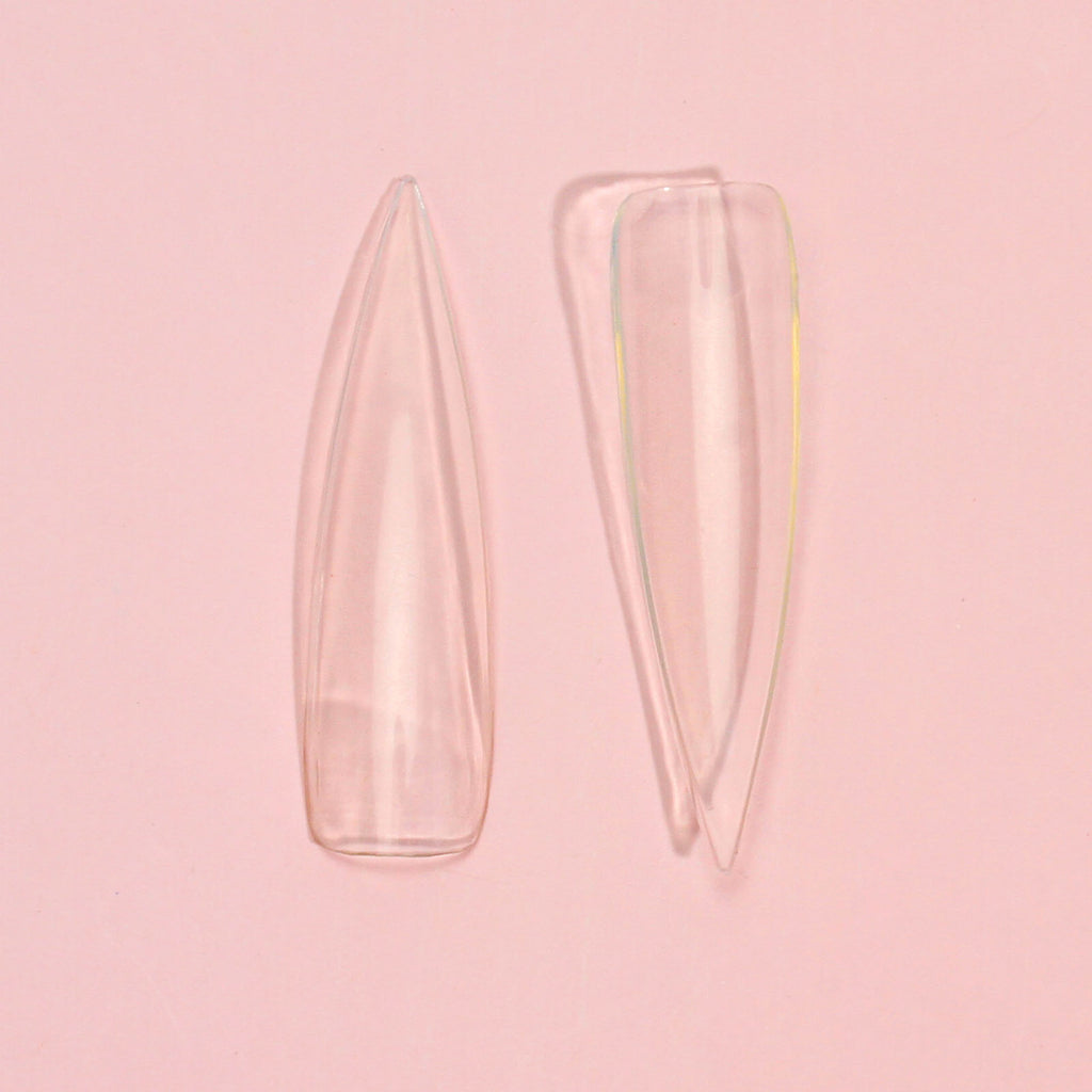 Clear Long Stiletto Pointy Nail Tips Package 500pcs