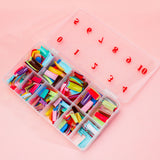 Acrylic Gel French Nail Art Half Tips Set 27 Color 540 pcs