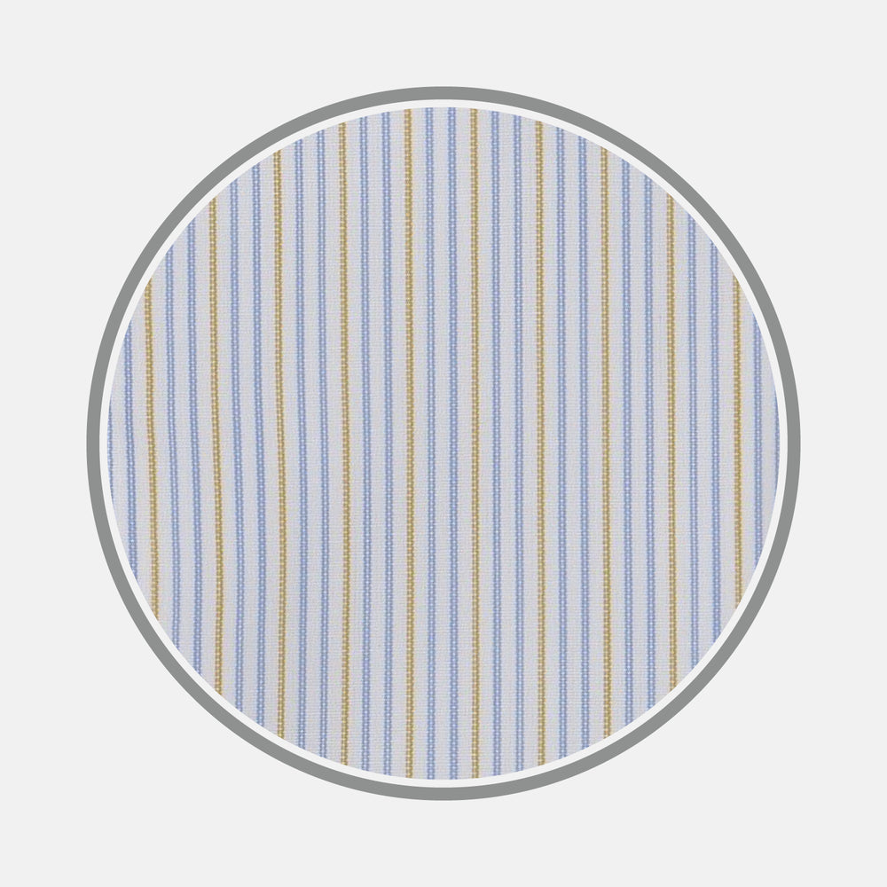 Yellow and Navy Supraluxe Stripe Fabric