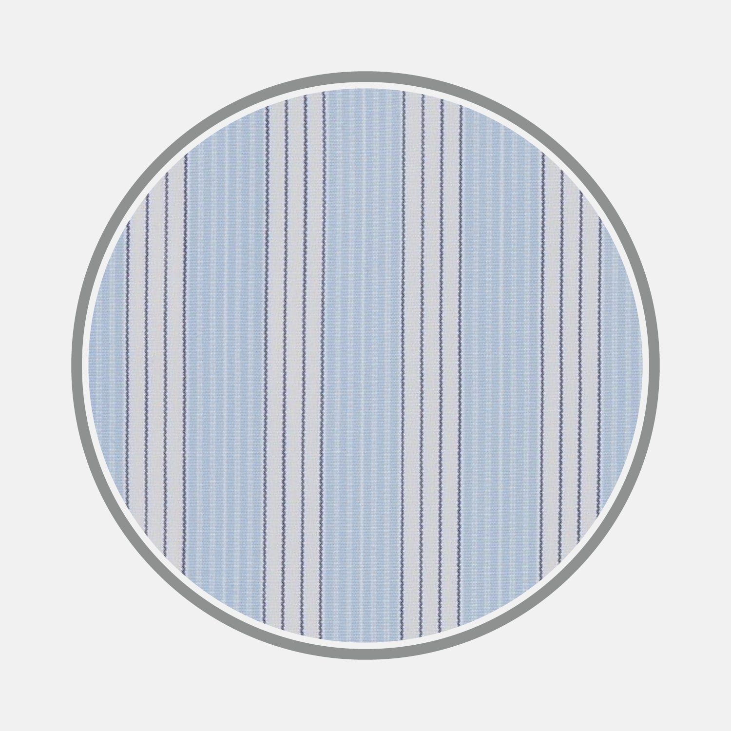 Blue and White Bold Stripe Cotton Fabric