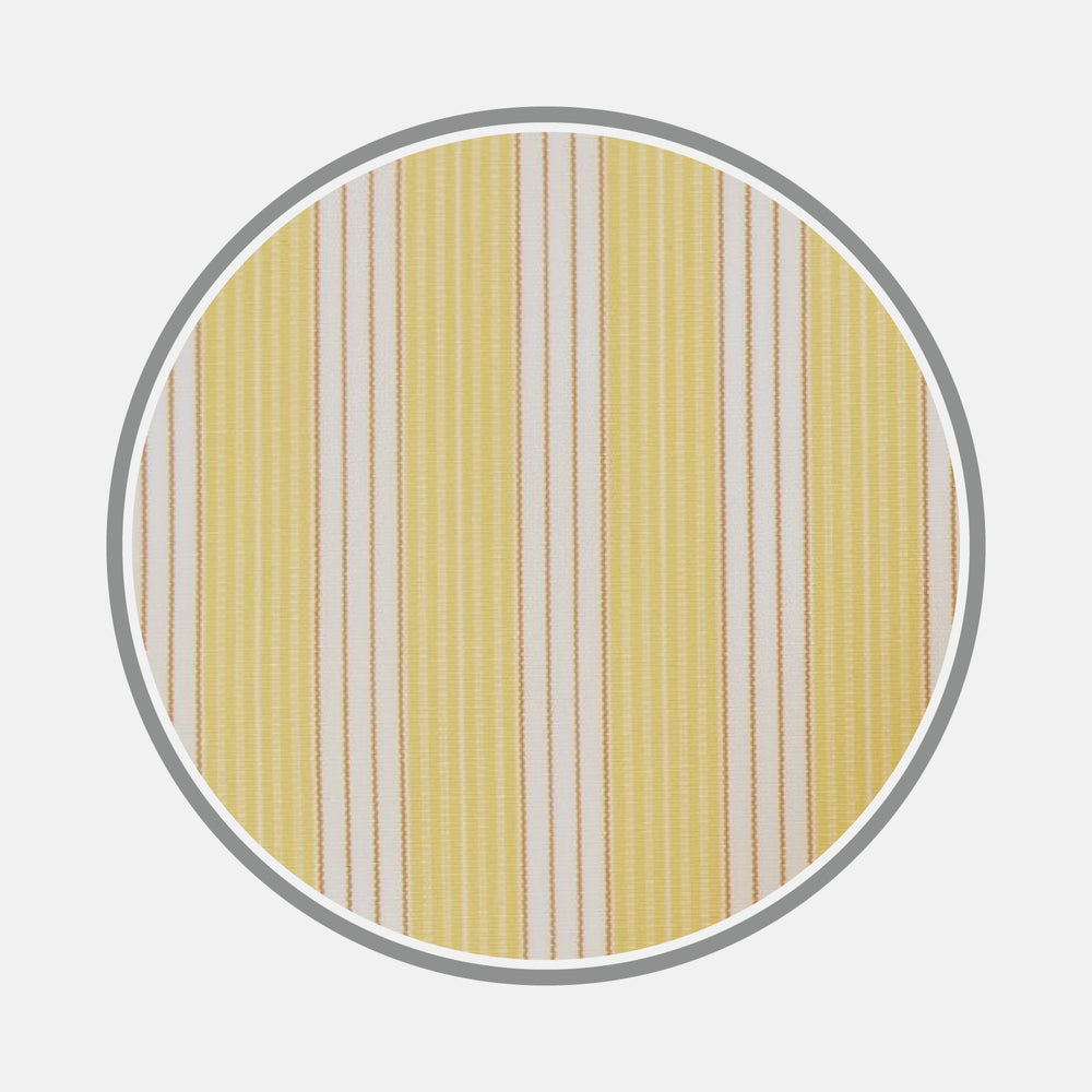 Yellow and White Bold Stripe Cotton Fabric