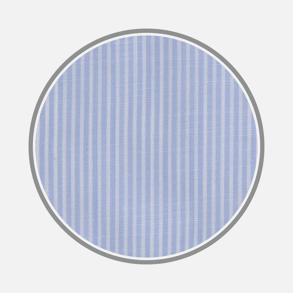 Light Blue and White Stripe Chambray Fabric