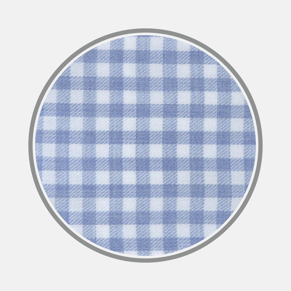 Light Blue Gingham Cotton Fabric