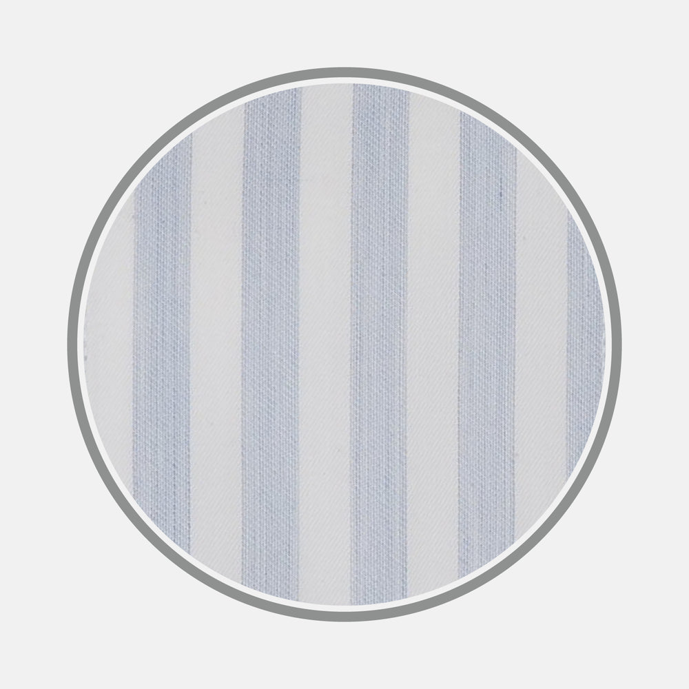 Blue and White Stripe Cotton Fabric