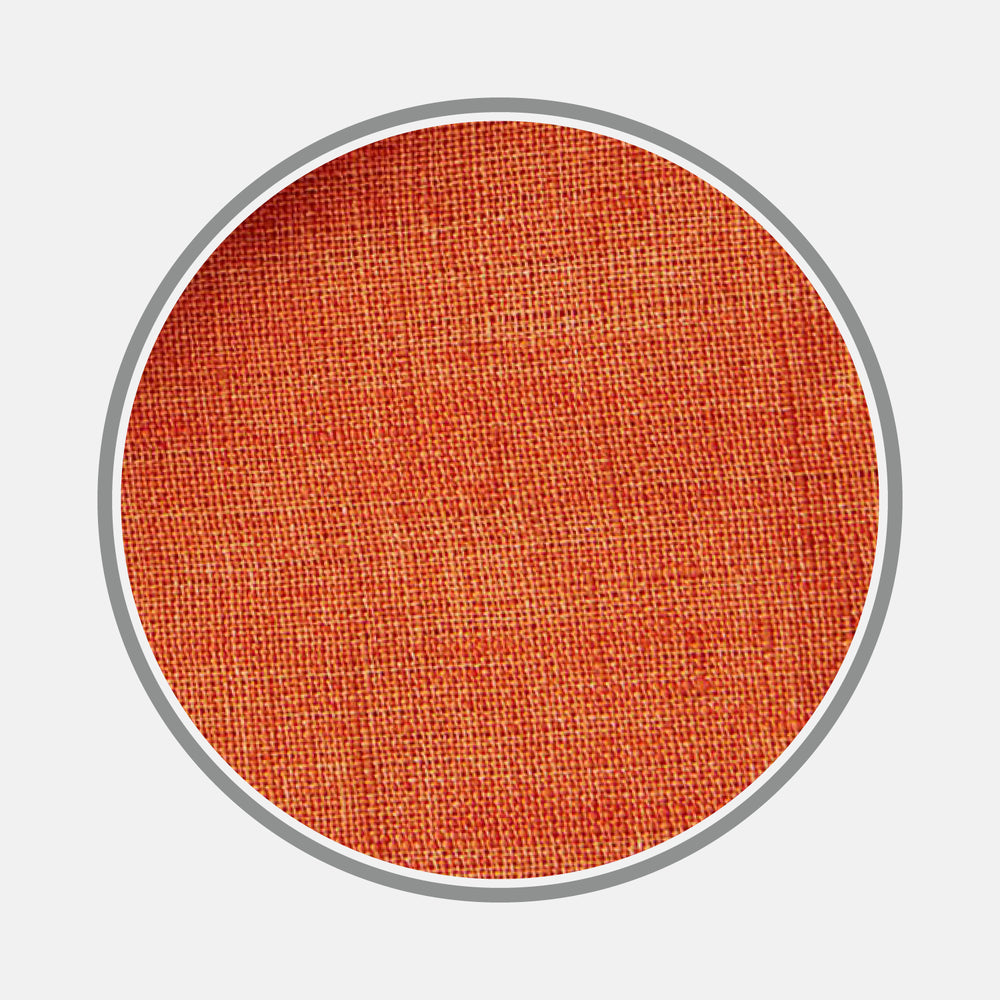 Plain Orange Linen Fabric