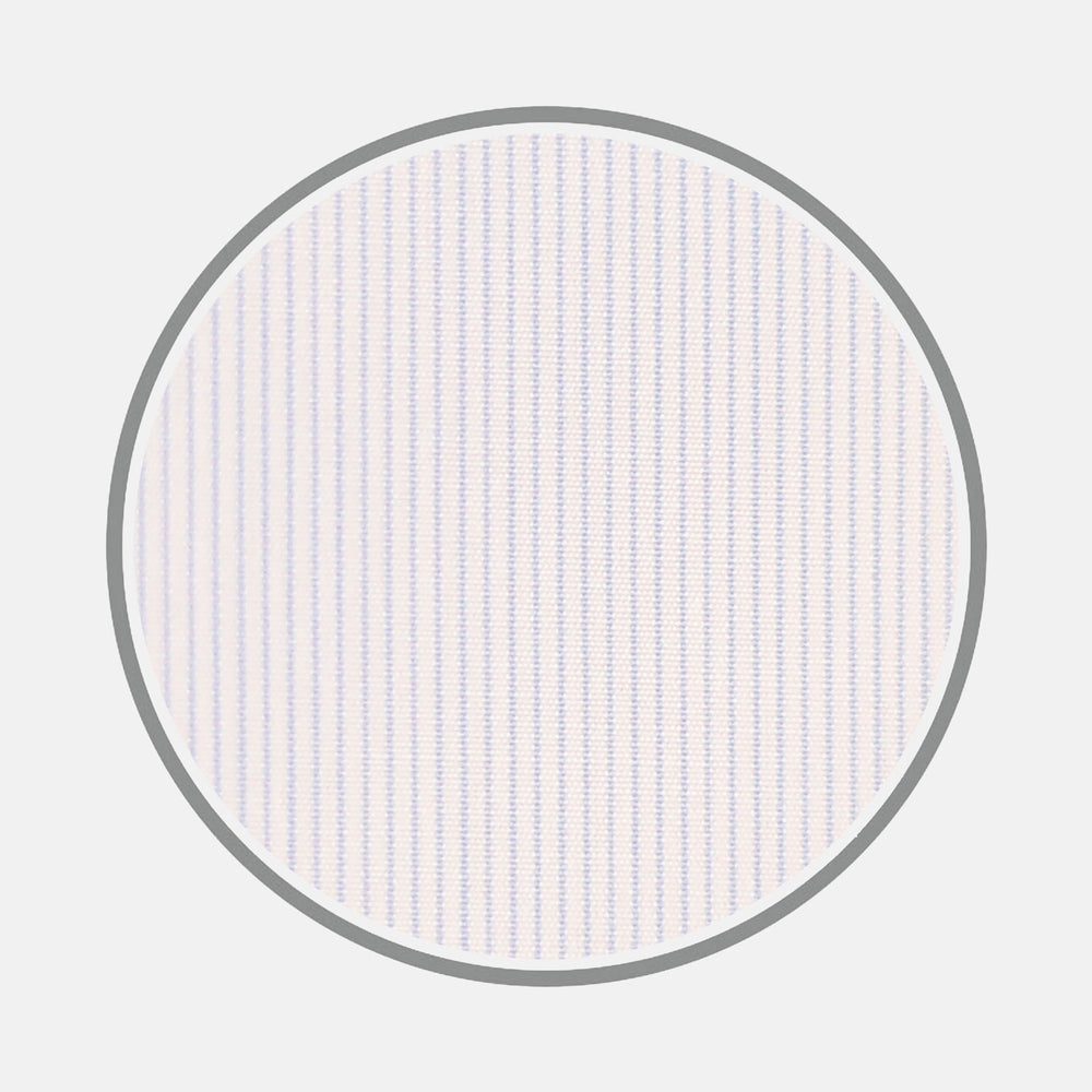 Light Blue Hairline Stripe Cotton Fabric