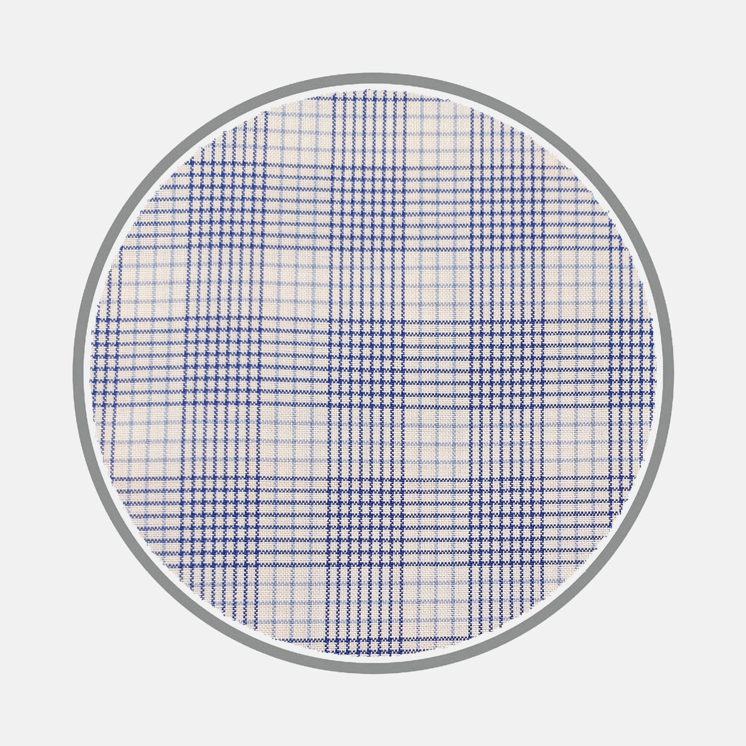 Blue Multi Check Silverline Cotton Fabric
