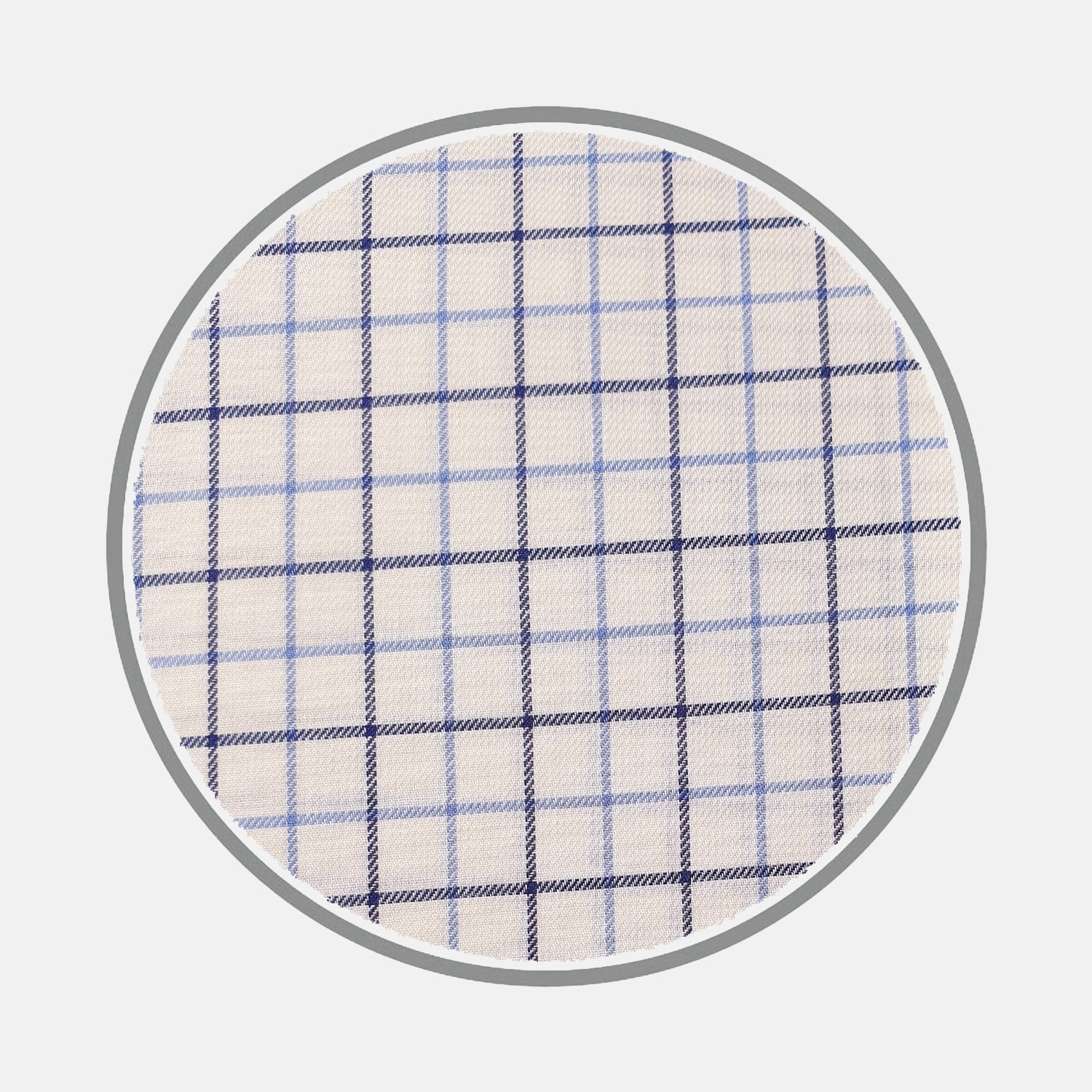 Navy and Blue Check Brushed Silverline Cotton Fabric