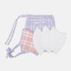 Blue, Pink & Purple Checked Cotton Commuter Mask with 3 VIROFORMULA™ filters