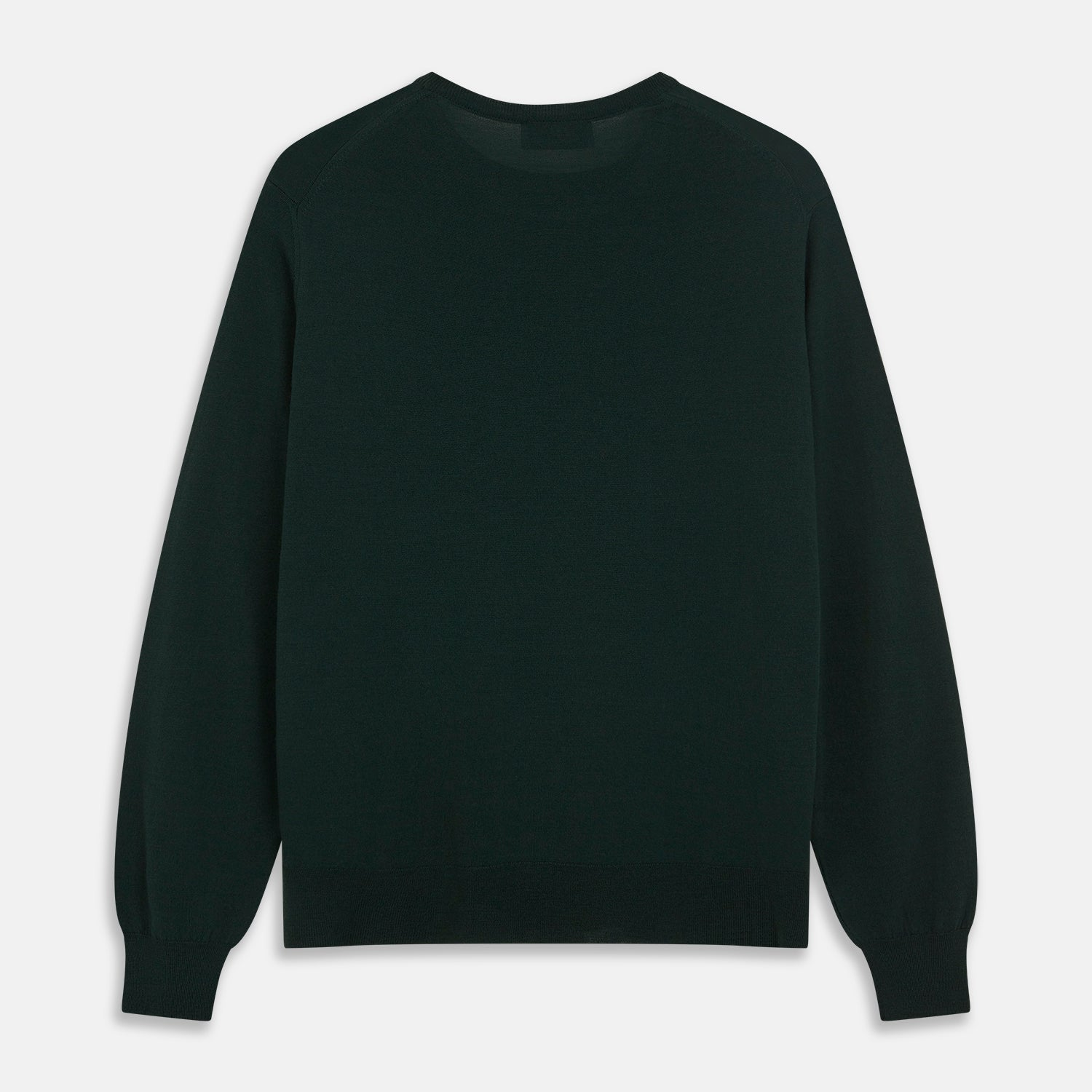 Forest Green Crew Neck Merino Jumper