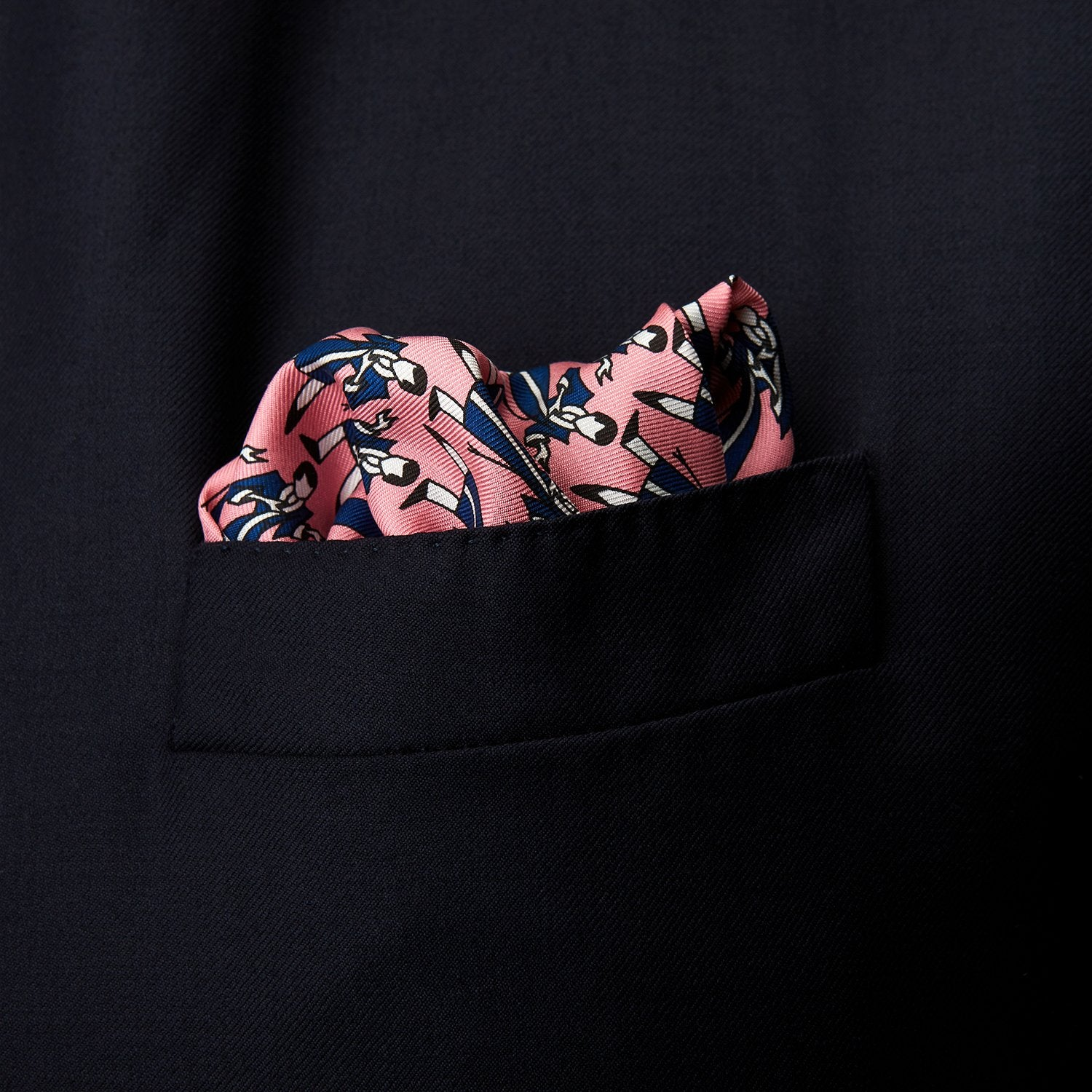 Pink Dressing Gowns Pocket Square