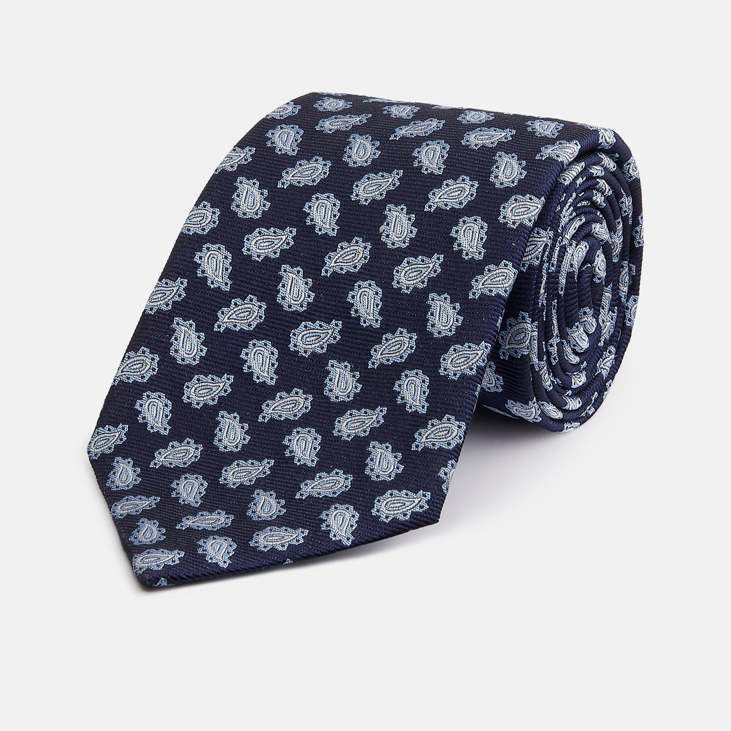 Blue Abstract Paisley Silk Tie