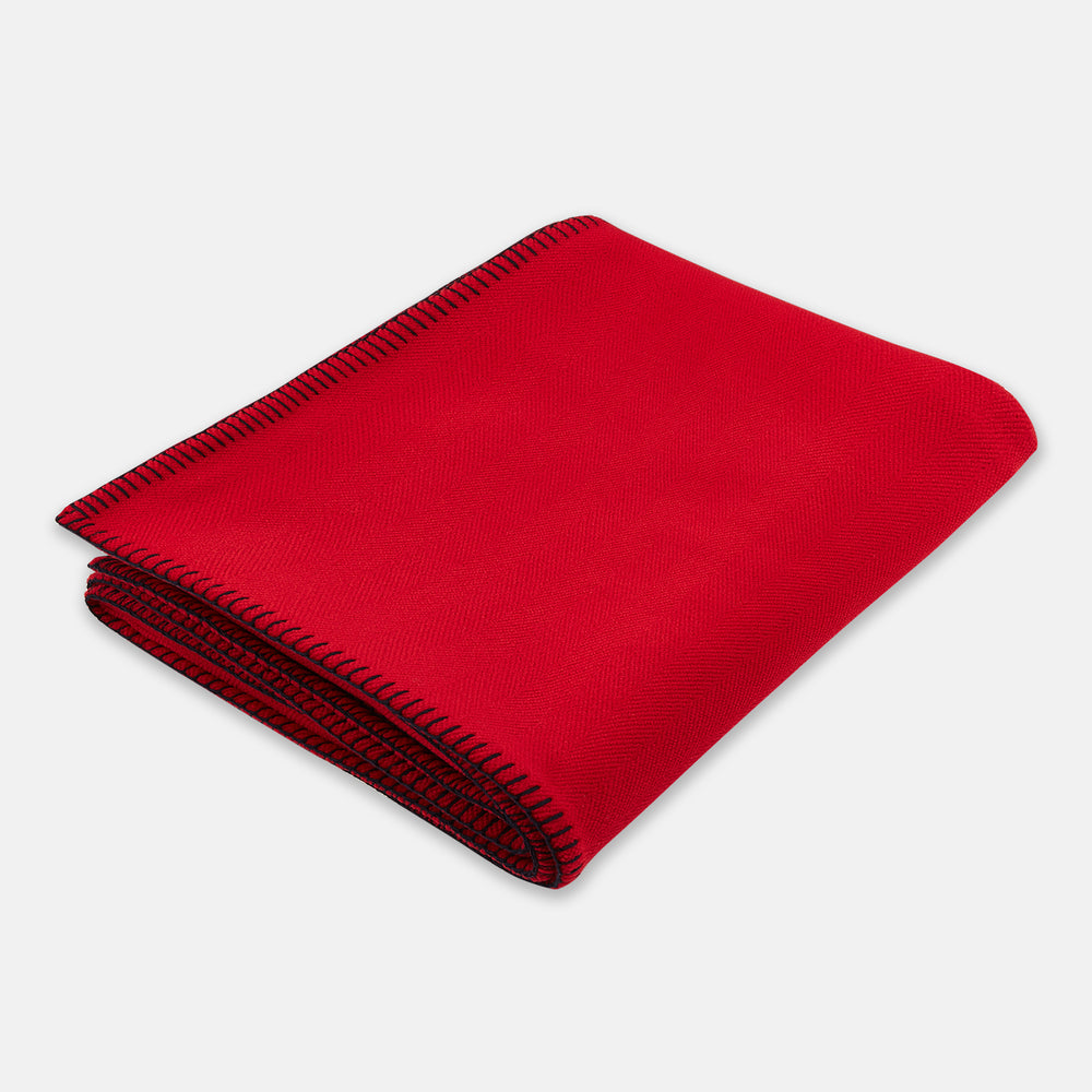 Red Lambswool Blanket