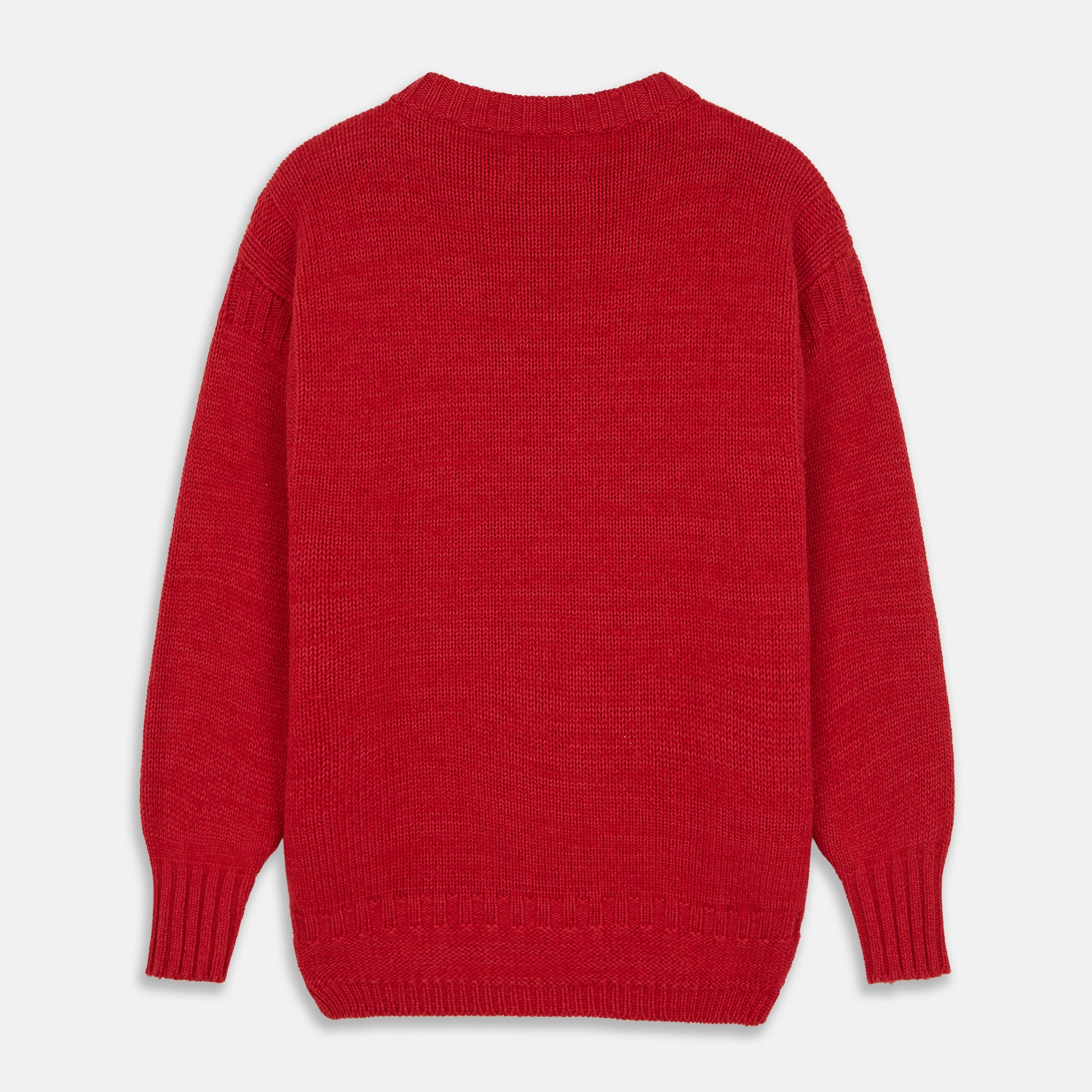 Red Lewis Guernsey Knitted Jumper