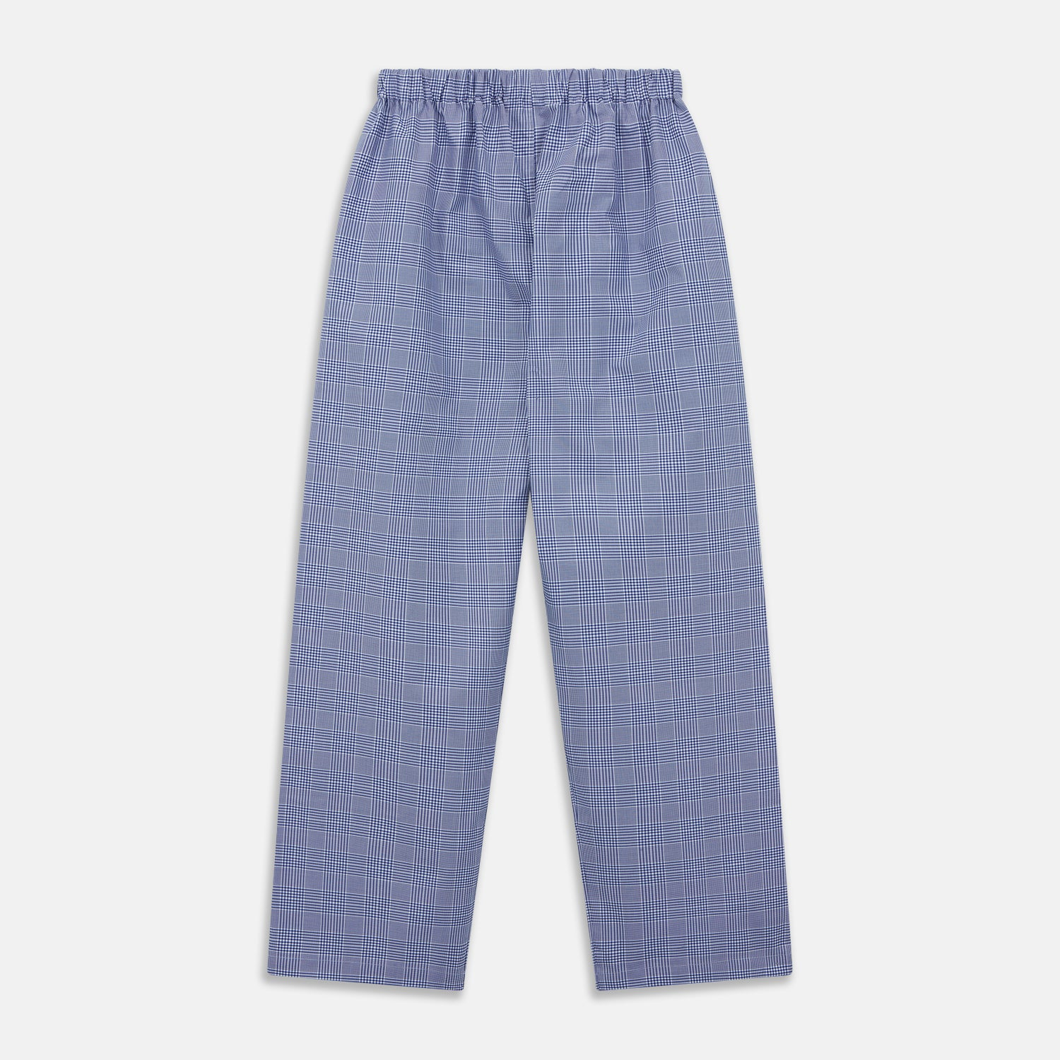 Navy Check Cotton Pyjama Trousers