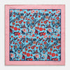 Sky Blue Wild Bloom Silk Print Pocket Square