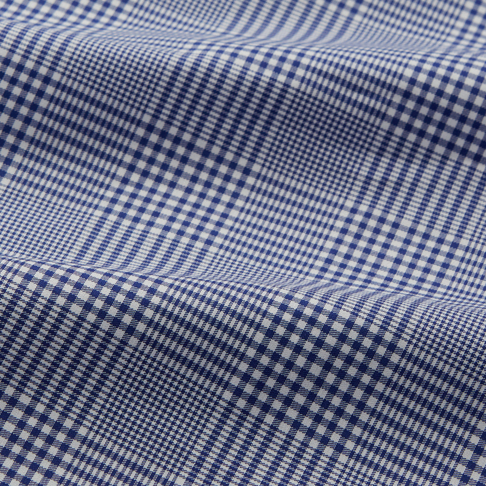 Navy Check Cotton Gown