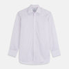 Blue Double Stripe Regular Fit Sea Island Quality Cotton Shirt with T&A Collar and Double Cuffs