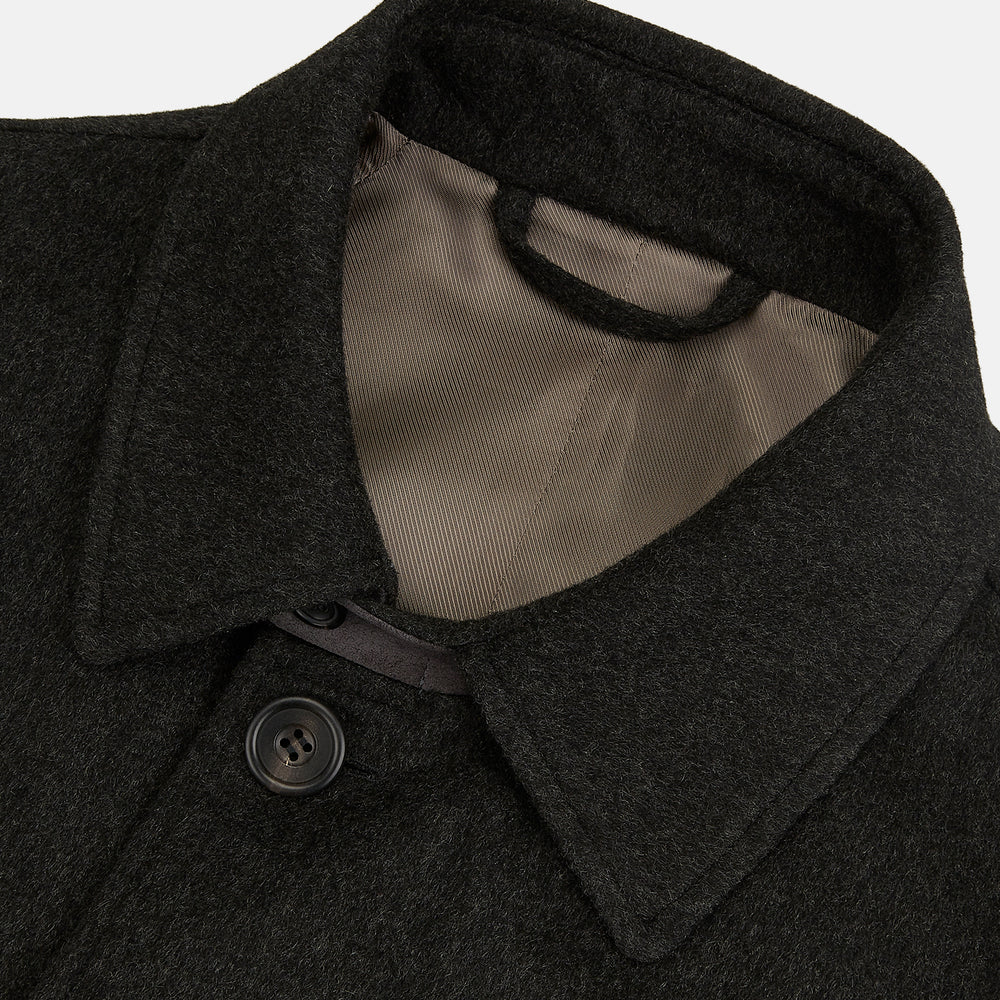Grey Wool and Cashmere Storm System Coat