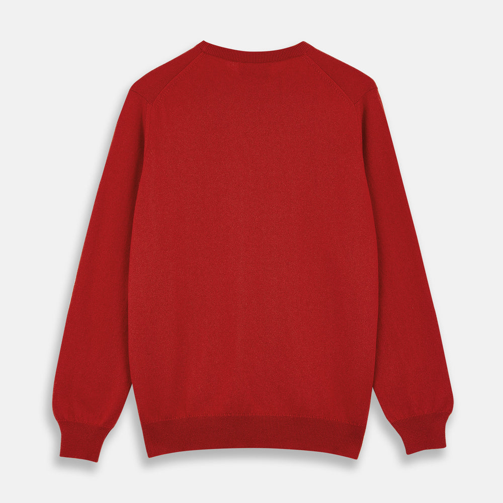 Red Cashmere Crewneck Jumper