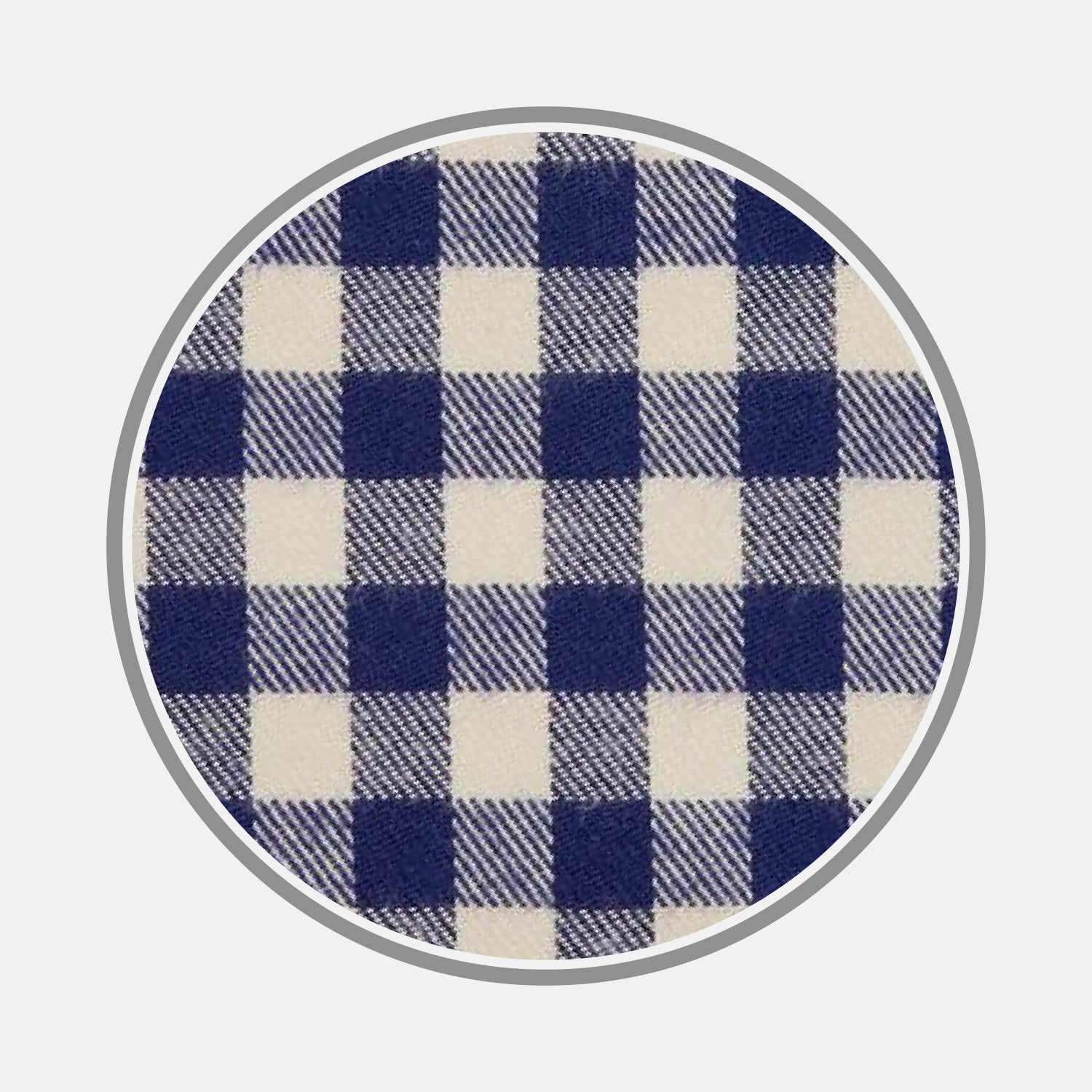 Blue Check Cotton Fabric