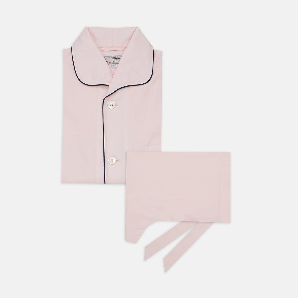 Pink Sea Island Cotton Pyjama Set