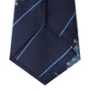 Blue Striped Geo Silk Tie
