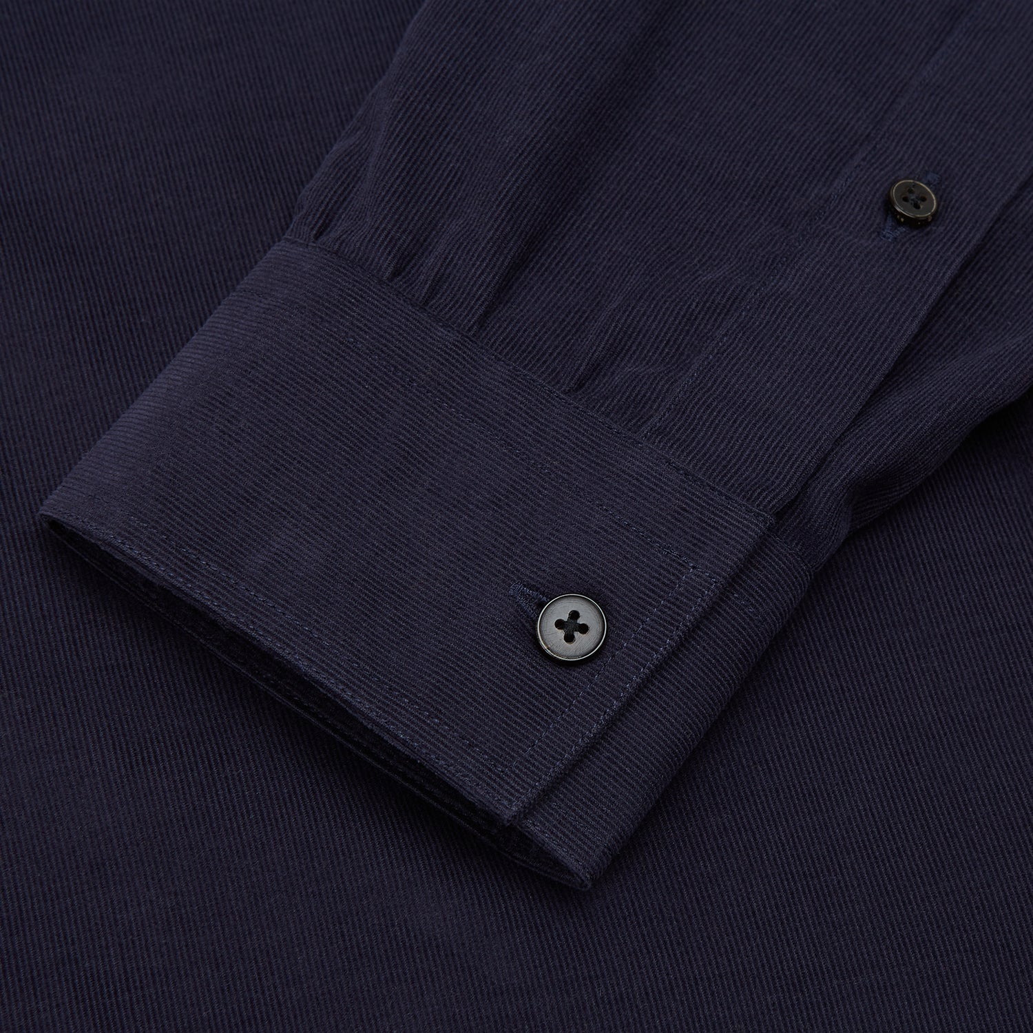 Midnight Blue Corduroy Officer Weekend Fit Shirt with Dorset Collar and 1-Button Cuffs