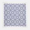 Navy & White Medallion Flower Print Pocket Square