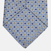 Blue and Yellow Geometric Silk Jacquard Tie