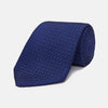 Navy Abstract Tonal Silk Jacquard Tie