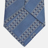 Dark Blue Baroque Stripe Silk Jacquard Tie