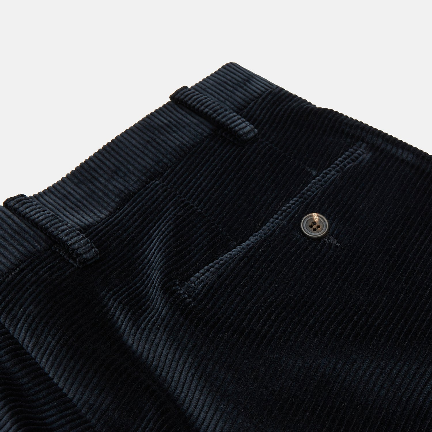 Navy Horizontal Cord Trousers