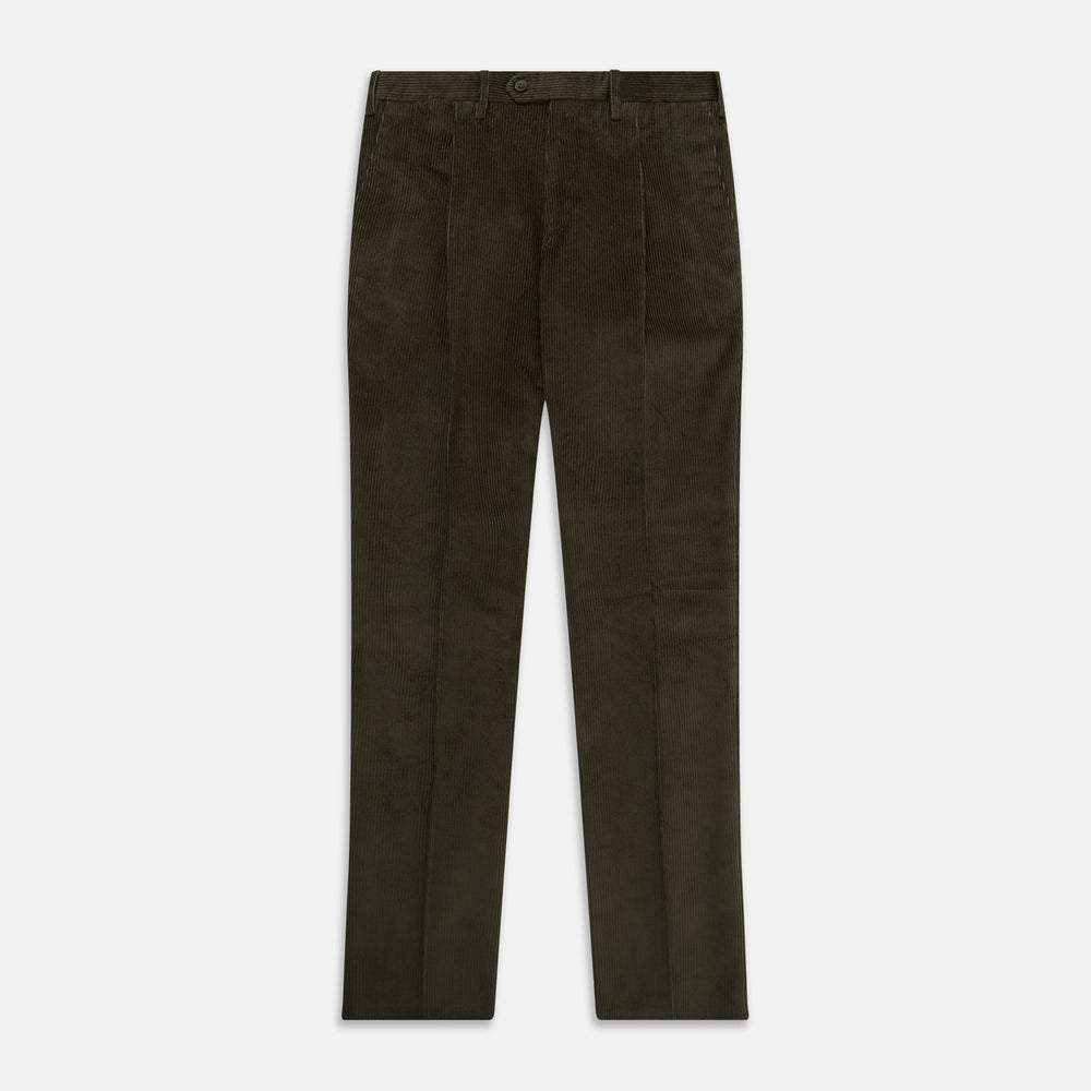 Olive Green Corduroy Trousers